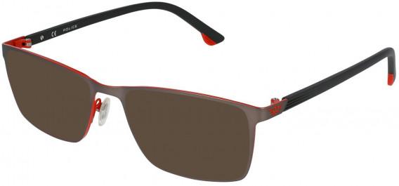 Police VPL951 sunglasses in Matt Full Red/Coloured