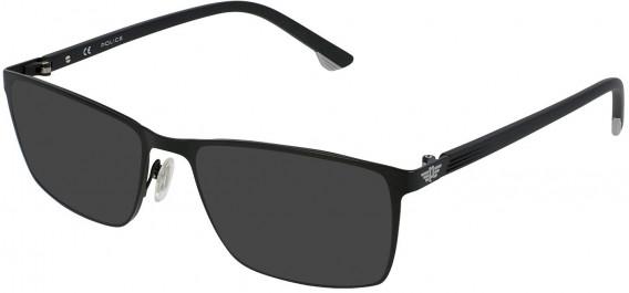 Police VPL951 sunglasses in Semi Matt Black