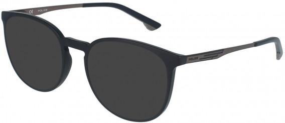 Police VPL950 sunglasses in Matt Black