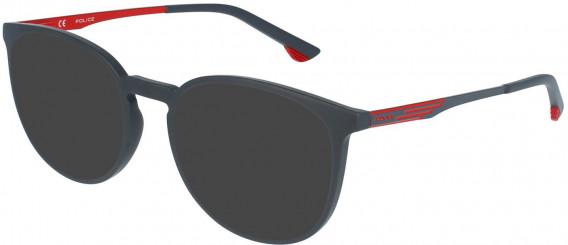 Police VPL950 sunglasses in Full Matt Grey
