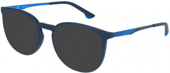 Police VPL950 sunglasses in Matt Night Blue