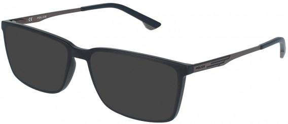 Police VPL949 sunglasses in Matt Black