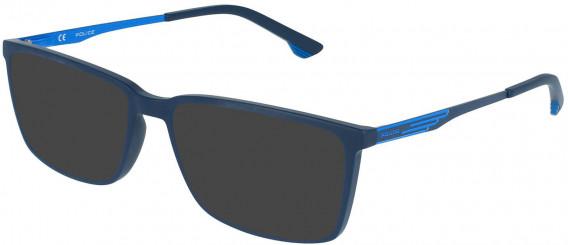 Police VPL949 sunglasses in Matt Night Blue