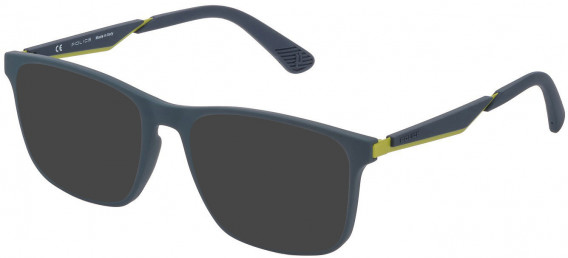 Police VPL888 sunglasses in Grey/Rubberizedized Paint