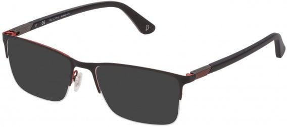 Police VPL884 sunglasses in Matt Full Red/Coloured