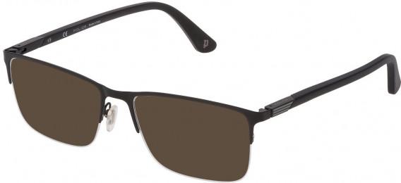 Police VPL884 sunglasses in Semi Matt Black