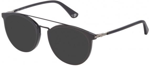 Police VPL881 sunglasses in Shiny Grey/Black