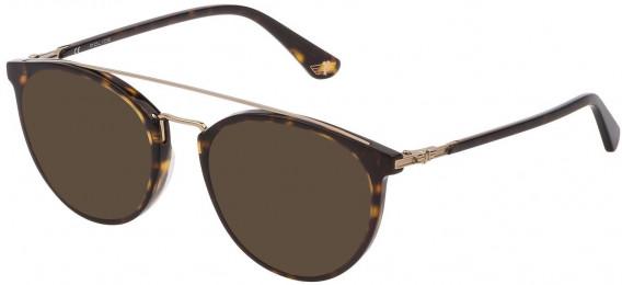 Police VPL881 sunglasses in Shiny Dark Havana