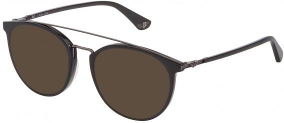 Police VPL881 sunglasses in Shiny Black