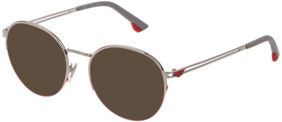 Police VPL880 sunglasses in Shiny Palladium