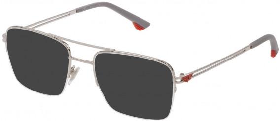 Police VPL879 sunglasses in Shiny Full Palladium