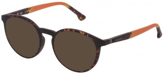 Police VPL878 sunglasses in Matt Dark Havana