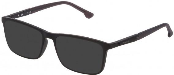 Police VPL877 sunglasses in Matt Black