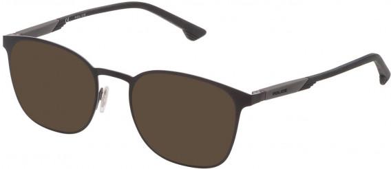 Police VPL801 sunglasses in Semi Matt Black/Grey