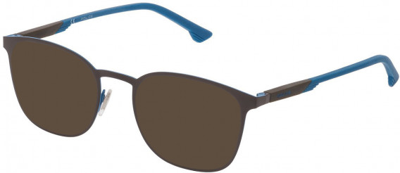 Police VPL801 sunglasses in Top Azure/Shiny Brown