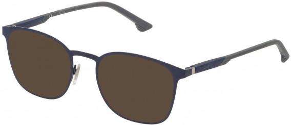 Police VPL801 sunglasses in Matt Blue