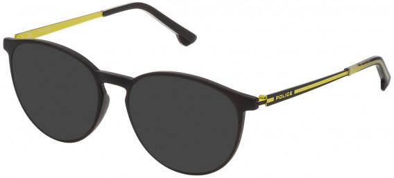 Police VPL800 sunglasses in Matt Black