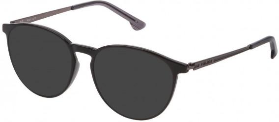 Police VPL800 sunglasses in Shiny Black