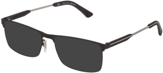 Police VPL798 sunglasses in Ruberizzed Black