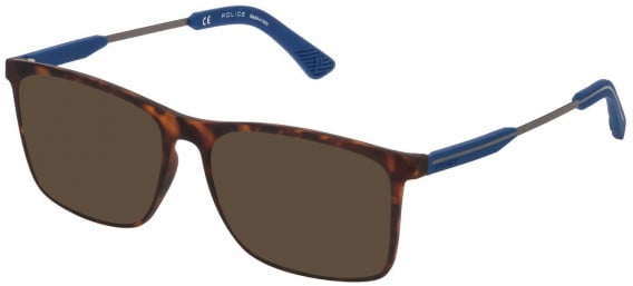 Police VPL797 sunglasses in Rubberized Dark Havana