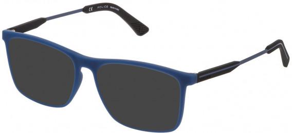 Police VPL797 sunglasses in Rubberized Jeans