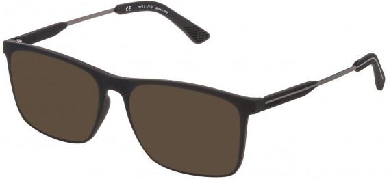 Police VPL797 sunglasses in Rubberized Black