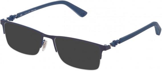 Police VPL794 sunglasses in Shiny Full Blue/Full Azure