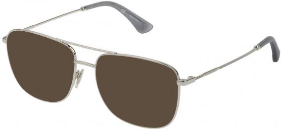 Police VPL766 sunglasses in Shiny Full Palladium