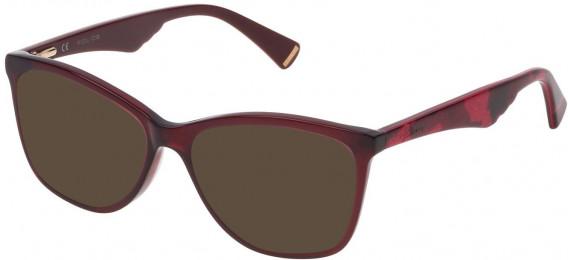 Police VPL760 sunglasses in Shiny Opal Bordeaux