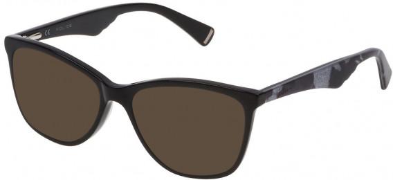 Police VPL760 sunglasses in Shiny Black