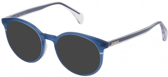 Police VPL732 sunglasses in Shiny Opal Blue