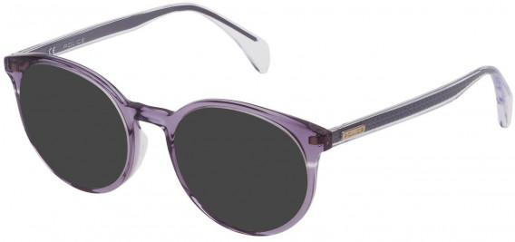 Police VPL732 sunglasses in Shiny Transparent Violet