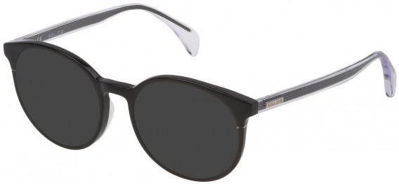 Police VPL732 sunglasses in Shiny Black
