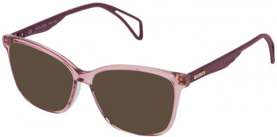 Police VPL731 sunglasses in Shiny Pink/Grey
