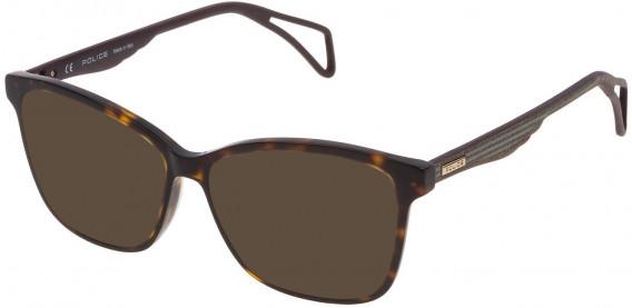 Police VPL731 sunglasses in Shiny Dark Havana