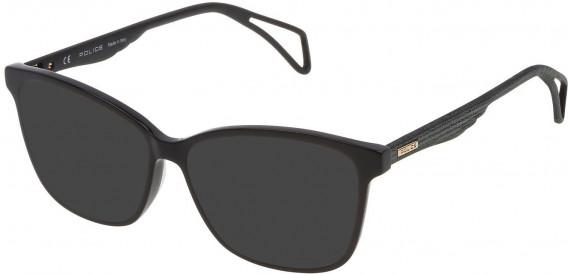 Police VPL731 sunglasses in Shiny Black