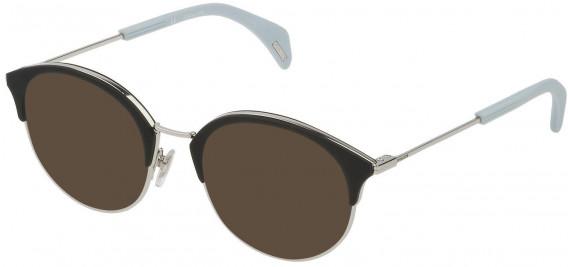 Police VPL730 sunglasses in Shiny Palladium