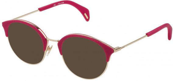 Police VPL730 sunglasses in Shiny Rose Gold