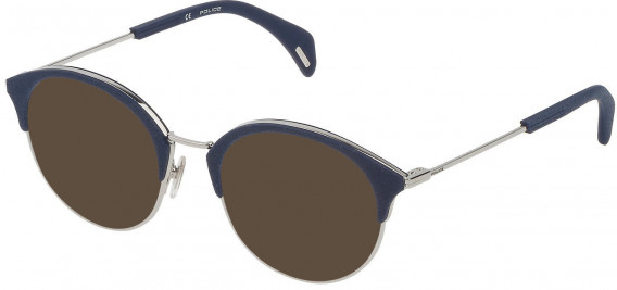 Police VPL730 sunglasses in Shiny Full Palladium