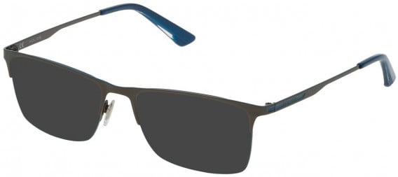 Police VPL698 sunglasses in Shiny Gun/Shiny Blue