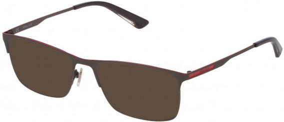 Police VPL698 sunglasses in Matt Gun Metal