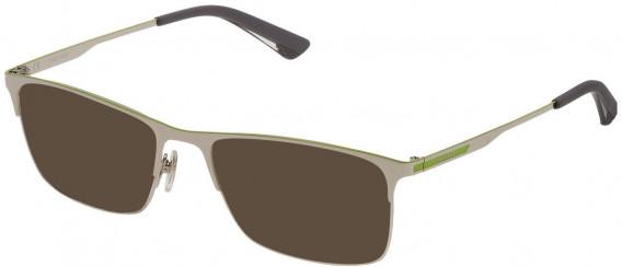 Police VPL698 sunglasses in Shiny Full Palladium