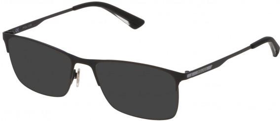 Police VPL698 sunglasses in Semi Matt Black