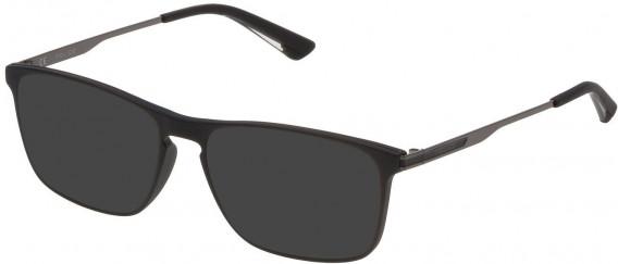 Police VPL697 sunglasses in Matt Black
