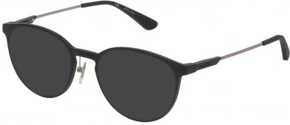 Police VPL695 sunglasses in Matt Black