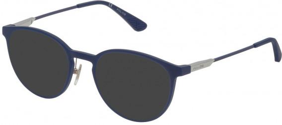 Police VPL695 sunglasses in Full Matt Blue
