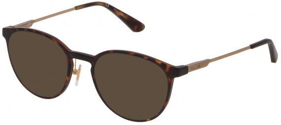 Police VPL695 sunglasses in Matt Dark Havana