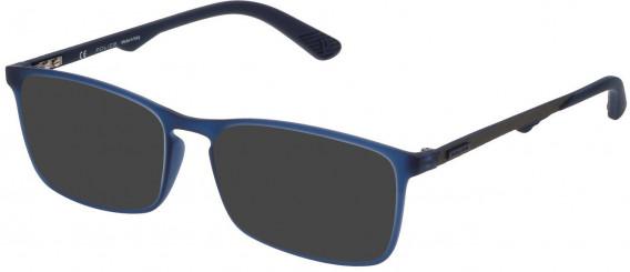 Police VPL694 sunglasses in Rubberized Blue