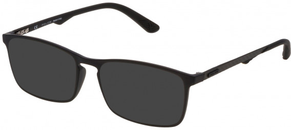 Police VPL694 sunglasses in Rubberized Black