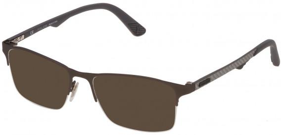 Police VPL693 sunglasses in Rubberized Gun